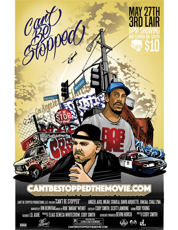 Cant Be Stopped The movie at 3rd Lair - Sat May 27 / 6pm / $10