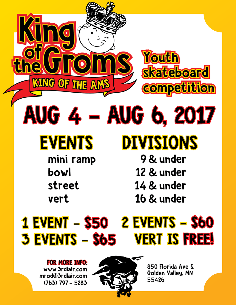 2017 King of the Groms/Ams Championships - Registration now Open