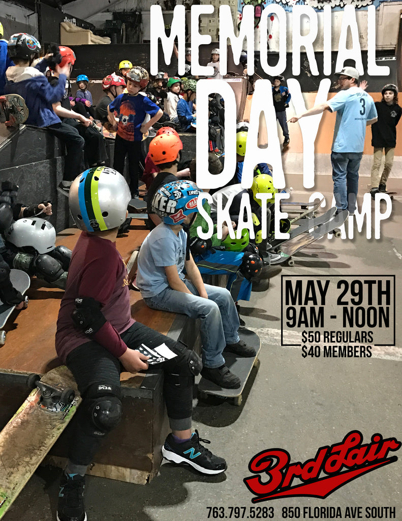 Memorial Day Skateboard Camp