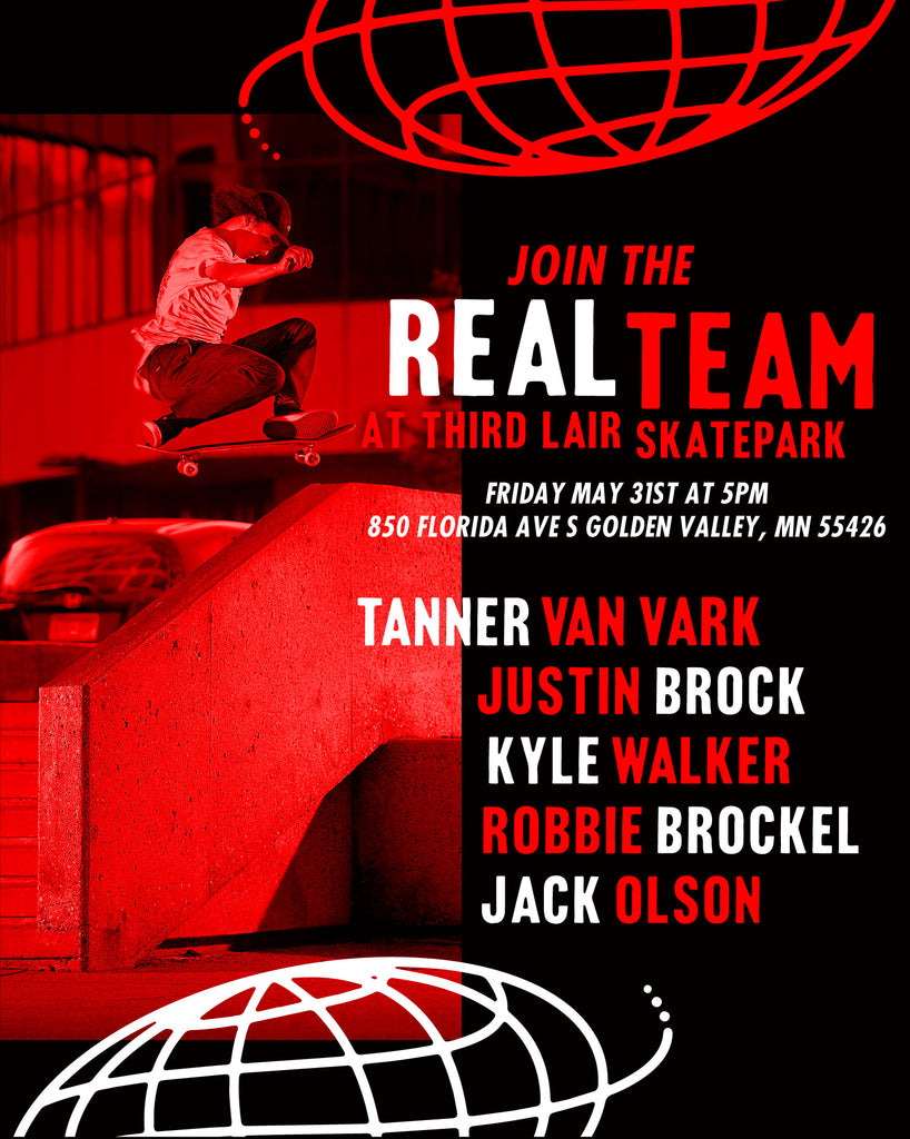 Real Skateboards Demo - Friday May 31, 2019 @ 5pm