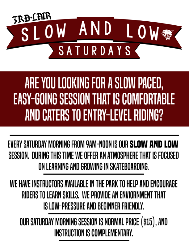 Slow and Low Saturday mornings are back