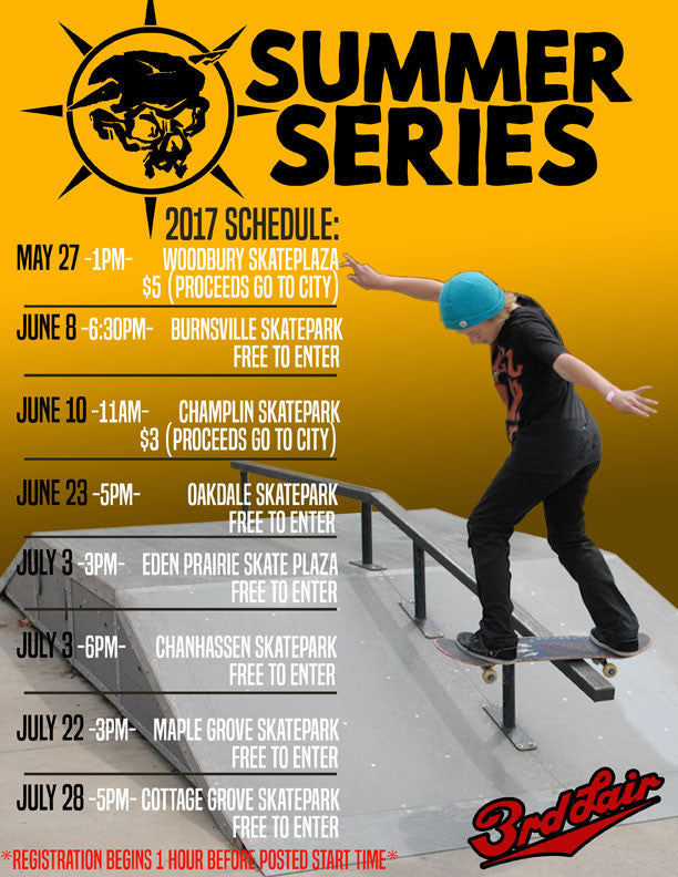 2017 Summer Series Schedule