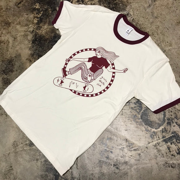 3RD LAIR SUPPORT GSC RINGER TEE (WHITE/MAROON)