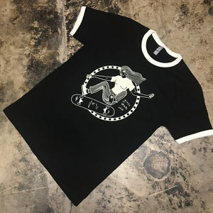 3RD LAIR SUPPORT GSC RINGER TEE (BLACK/WHITE)