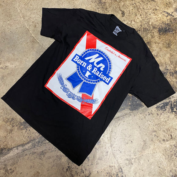 REP MN BORN AND RAISED TEE (BLACK)
