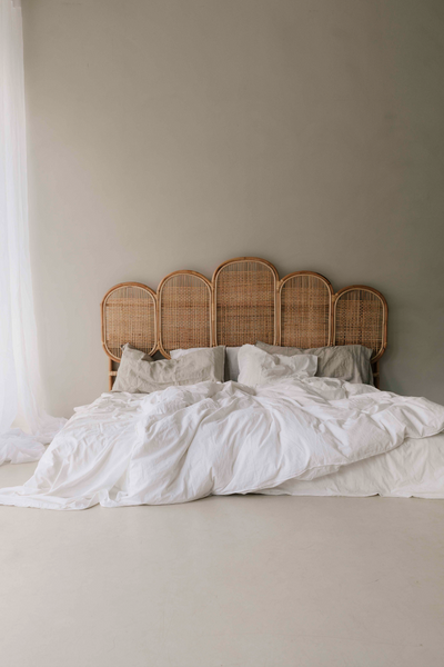 Rattan Headboard - Fan shaped