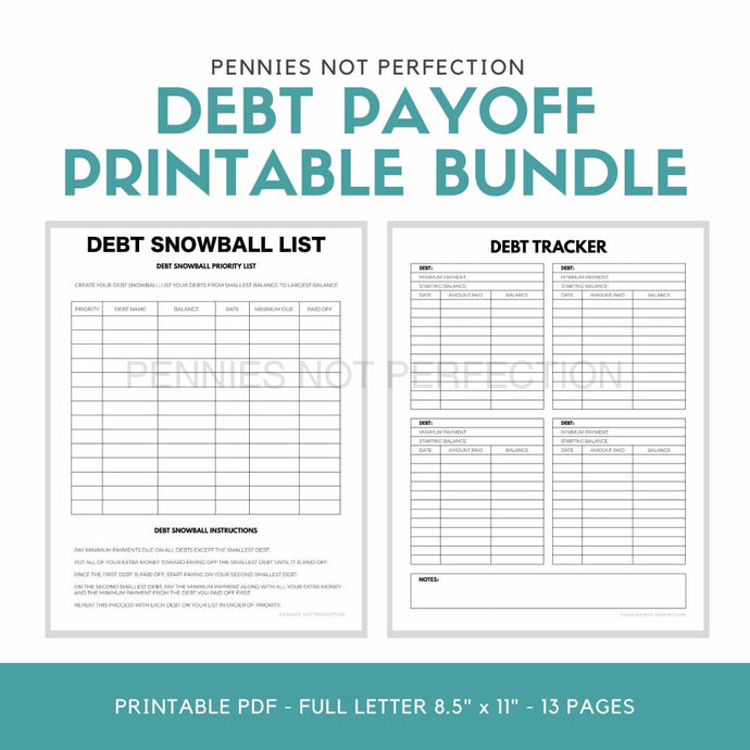 Debt Payoff Planner Bundle Printable | Snowball & Avalanche