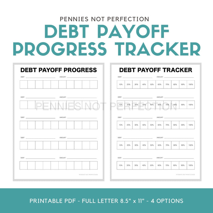 Debt Payoff Tracker | Progress Printable