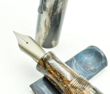 Load image into Gallery viewer, M566C - (Evancio) - Heimdallr resin - BOCK #8 Titanium F nib w-ebonite feed