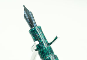 M414C - Teal Radiance Diamond Cast - Jowo 1.1 Gunmetal nib