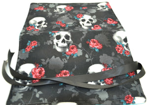 Pen Roll - Skulls and Roses