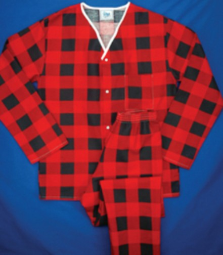 Pajamas - Button Front (Flannel)