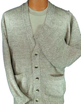 Mens Button Down Acrylic Cardigan. Assorted colors.