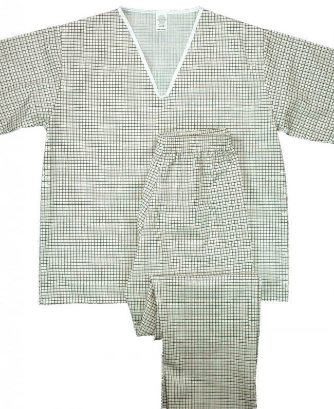 V Neck Button Front Pajamas