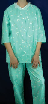 Broadcloth Pajamas. Assorted poly/cotton solids and prints.