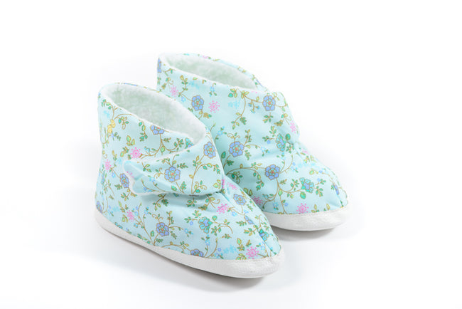 Ladies EdemaBoots (Blue Floral)