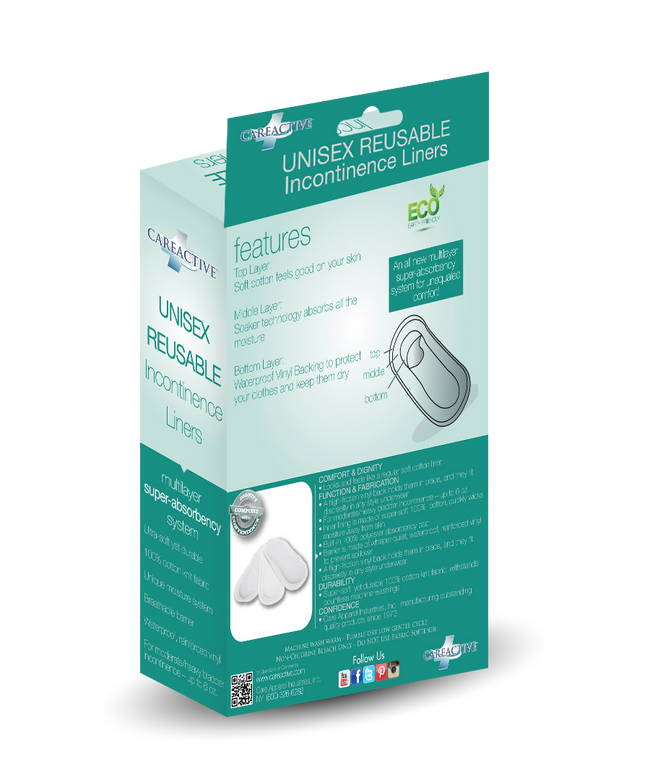 Reusable Incontinence Liners (Unisex)