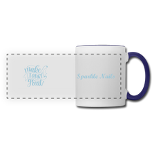 Load image into Gallery viewer, Sparkle Nails Coffee Mug - white/cobalt blue