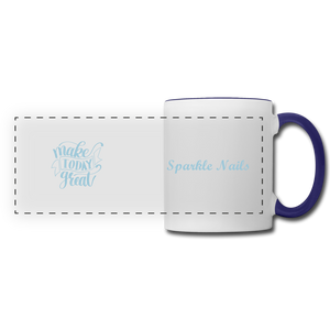 Sparkle Nails Coffee Mug - white/cobalt blue