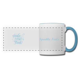 Sparkle Nails Coffee Mug - white/light blue