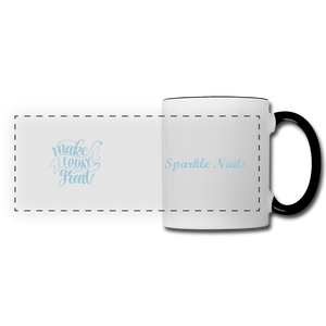 Sparkle Nails Coffee Mug - white/black