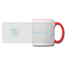 Load image into Gallery viewer, Sparkle Nails Coffee Mug - white/red
