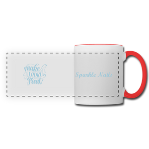 Sparkle Nails Coffee Mug - white/red