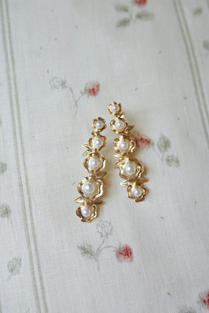 garden collection: hollyhock earrings
