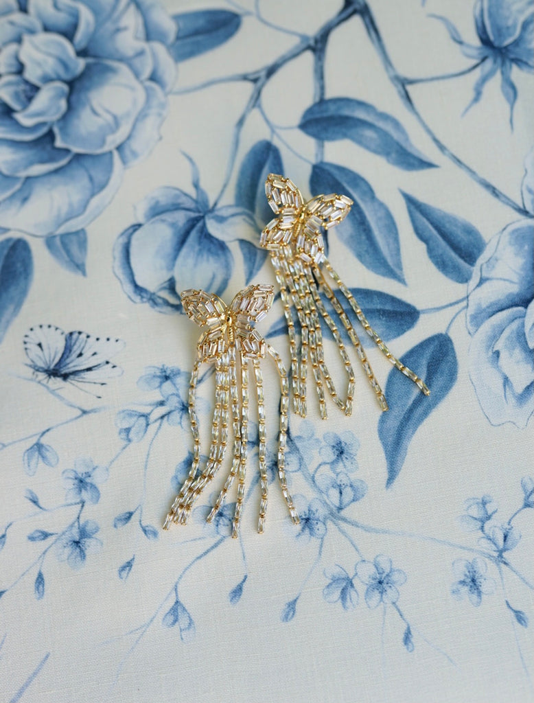 garden collection: embellished butterfly tassels
