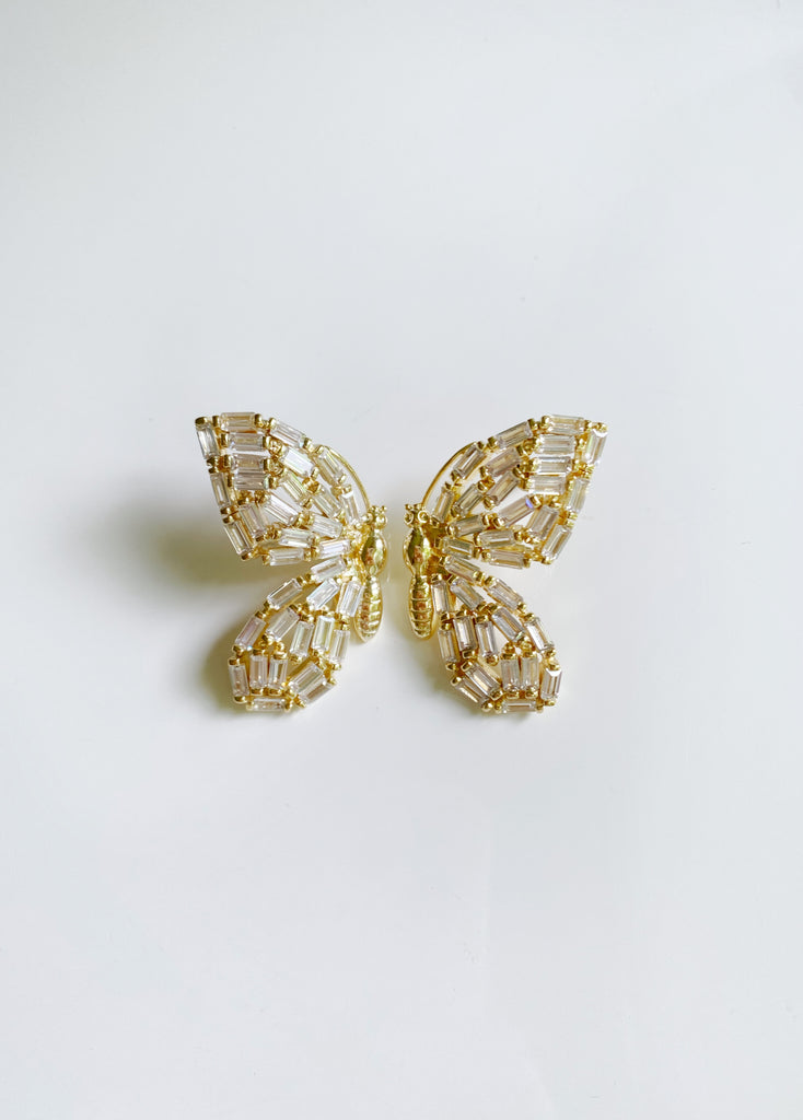 garden collection: embellished butterfly studs