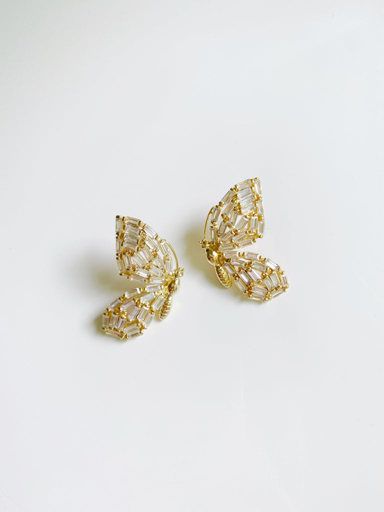 pre order: garden collection: embellished butterfly studs