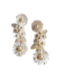 collection earrings: mother of pearl + flowers + pearl