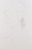 pre order: collection earrings: mother of pearl + pearly bow