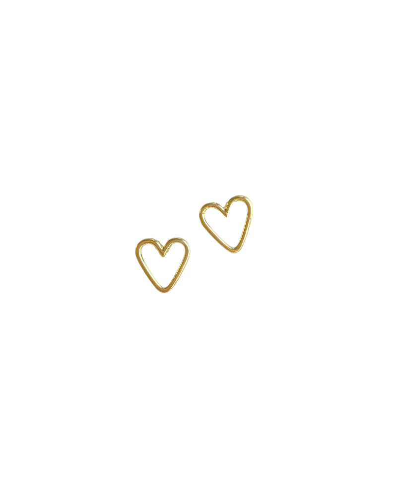 stud collection: golden heart stud
