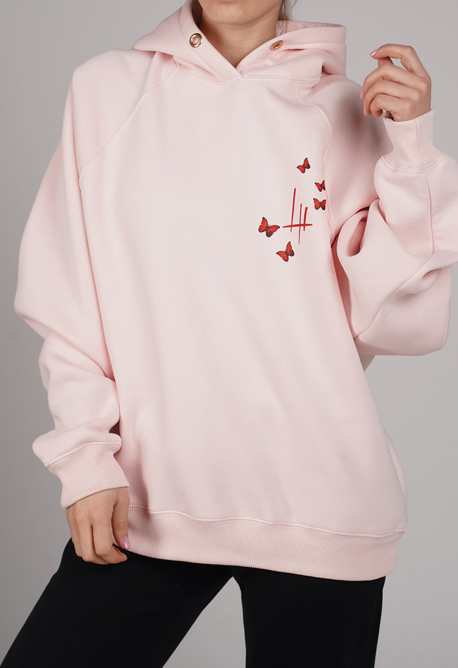 Butterfly Effect Hoodie in Pink - LH x COHL'S