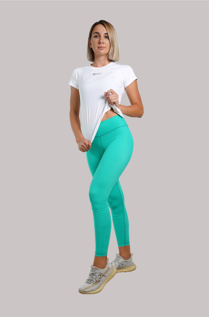 Basic VP Mint Leggings  / Outline Glass - C122010