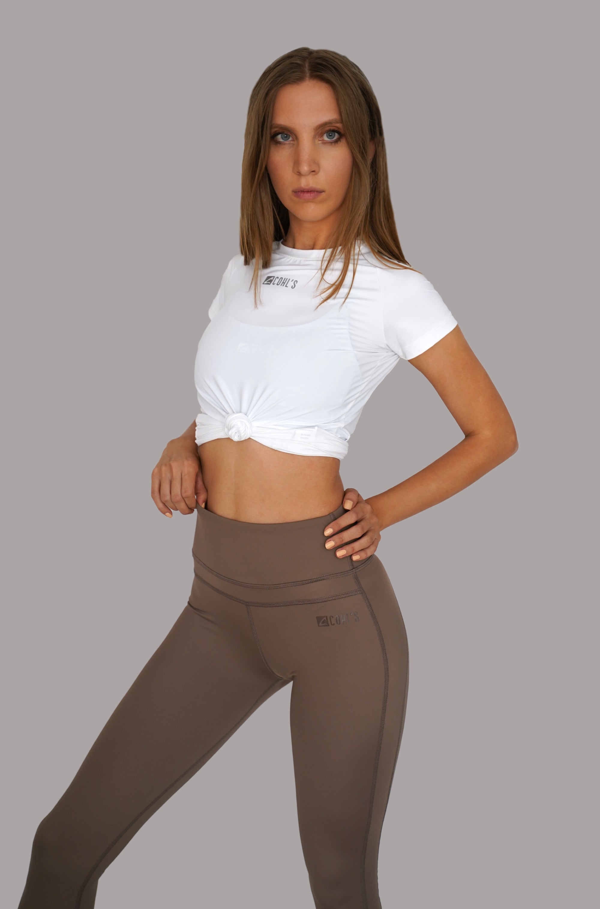 Basic Leggings in Stone - C122010