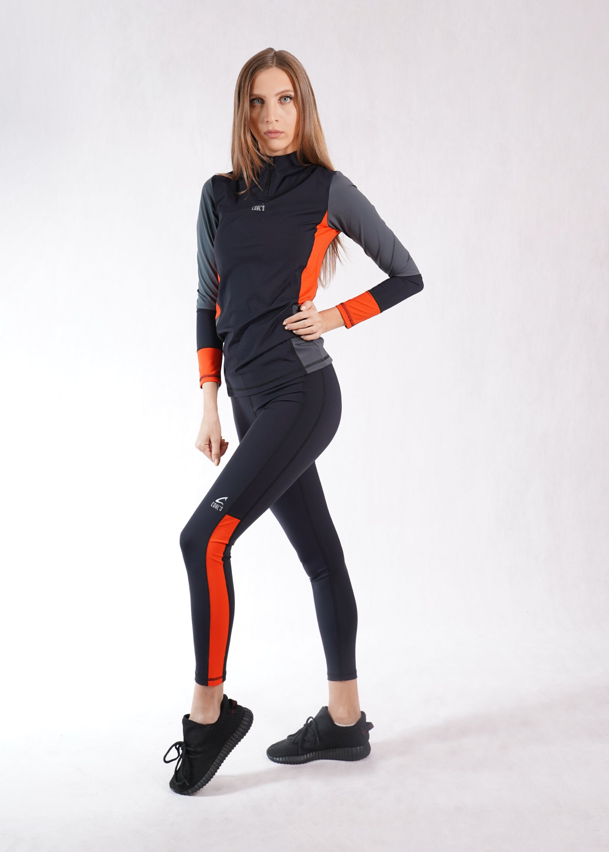 Leggings Black/Orange- C122003