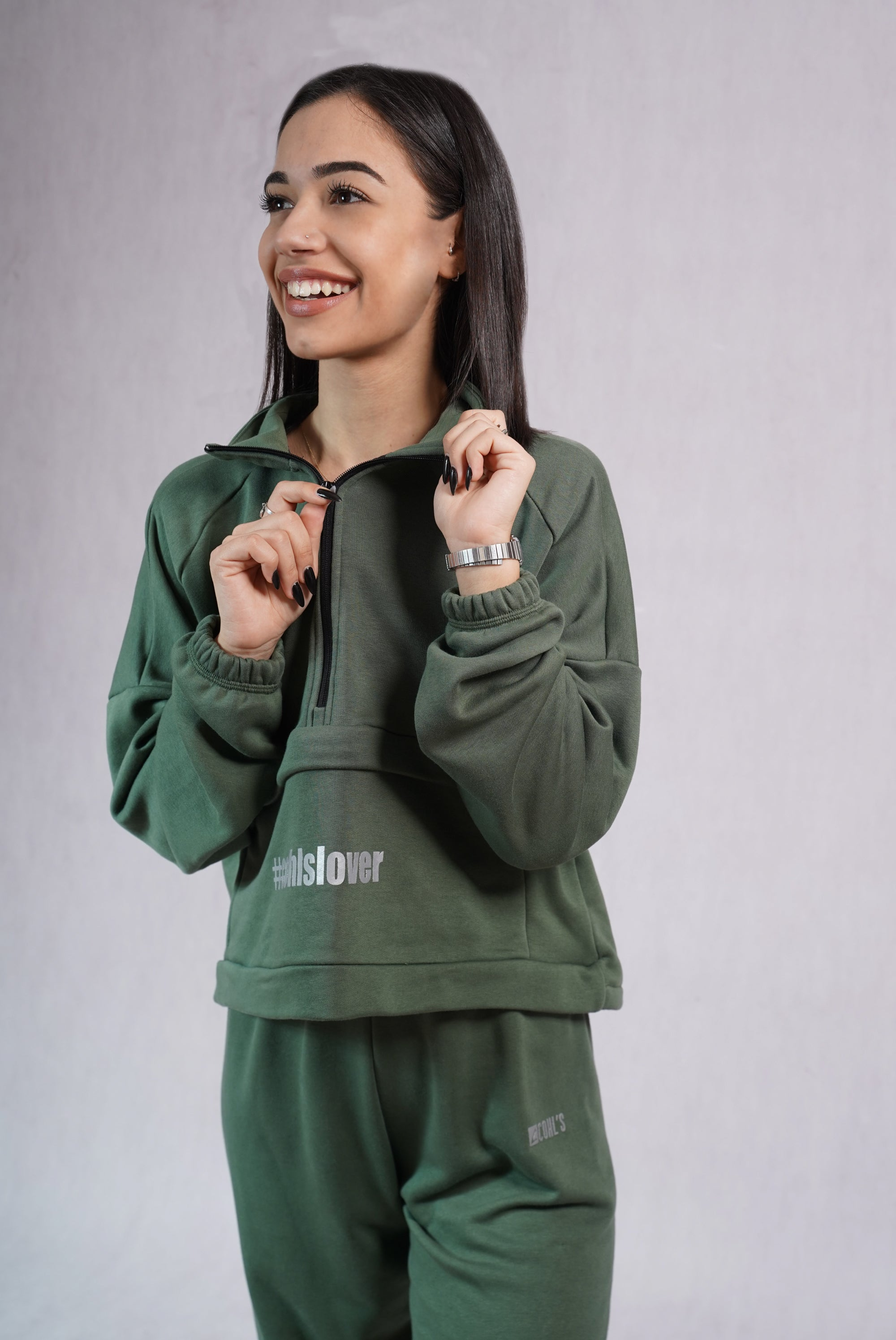 Cargo Sweatshirt in Army