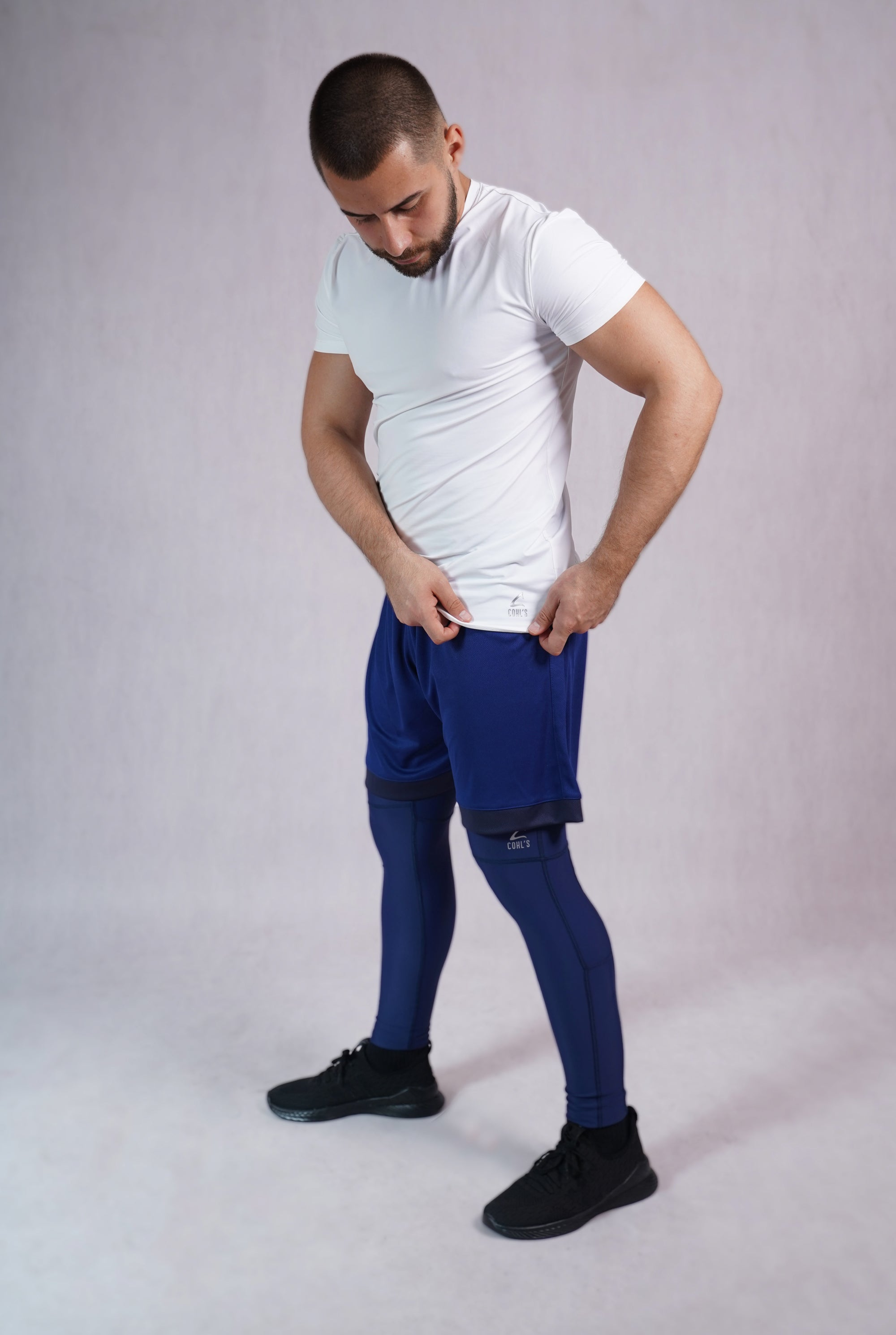 Men Leggings in Blue - C222000