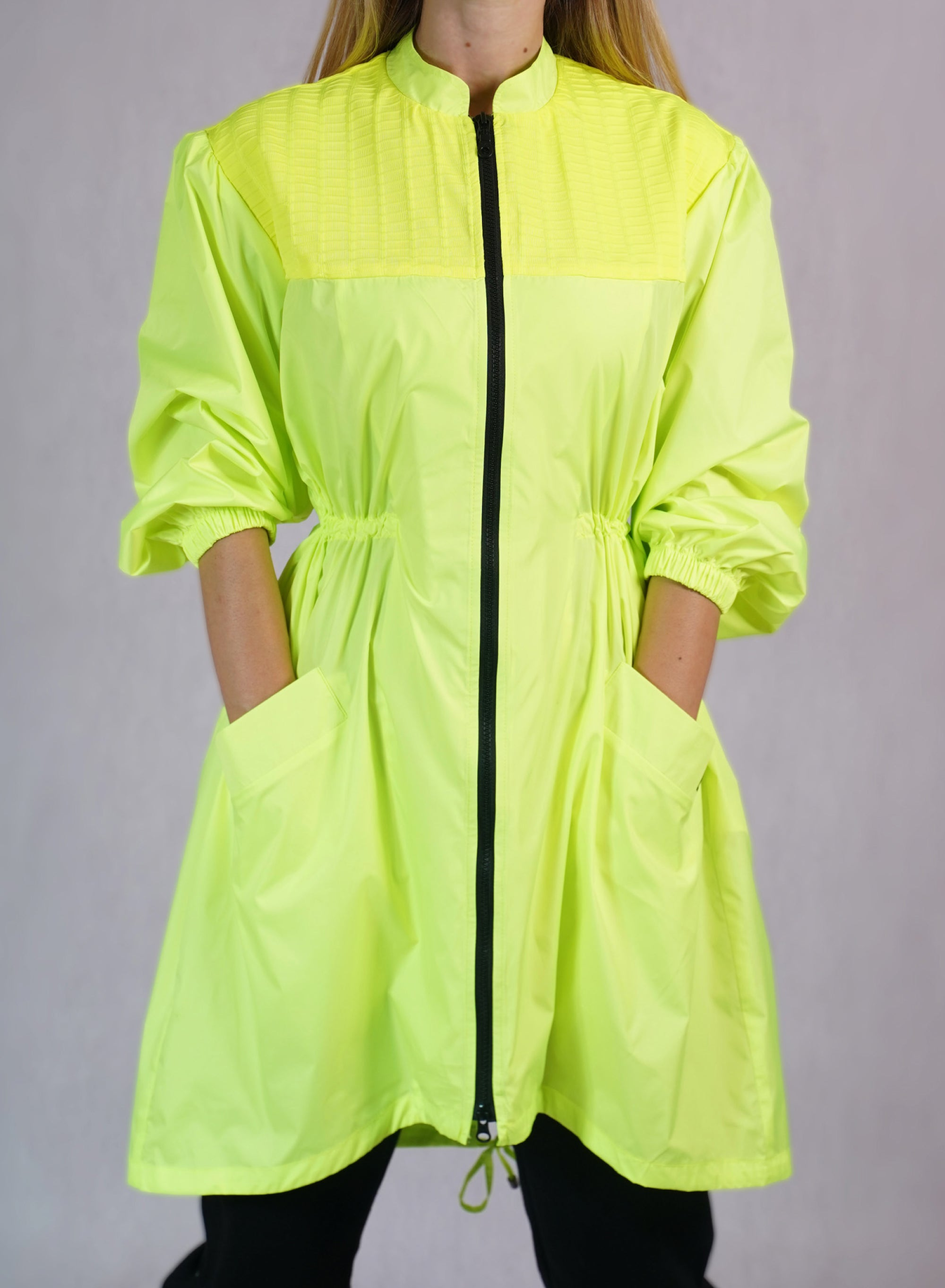 Windbreaker Trench Coat in Neon - C173001