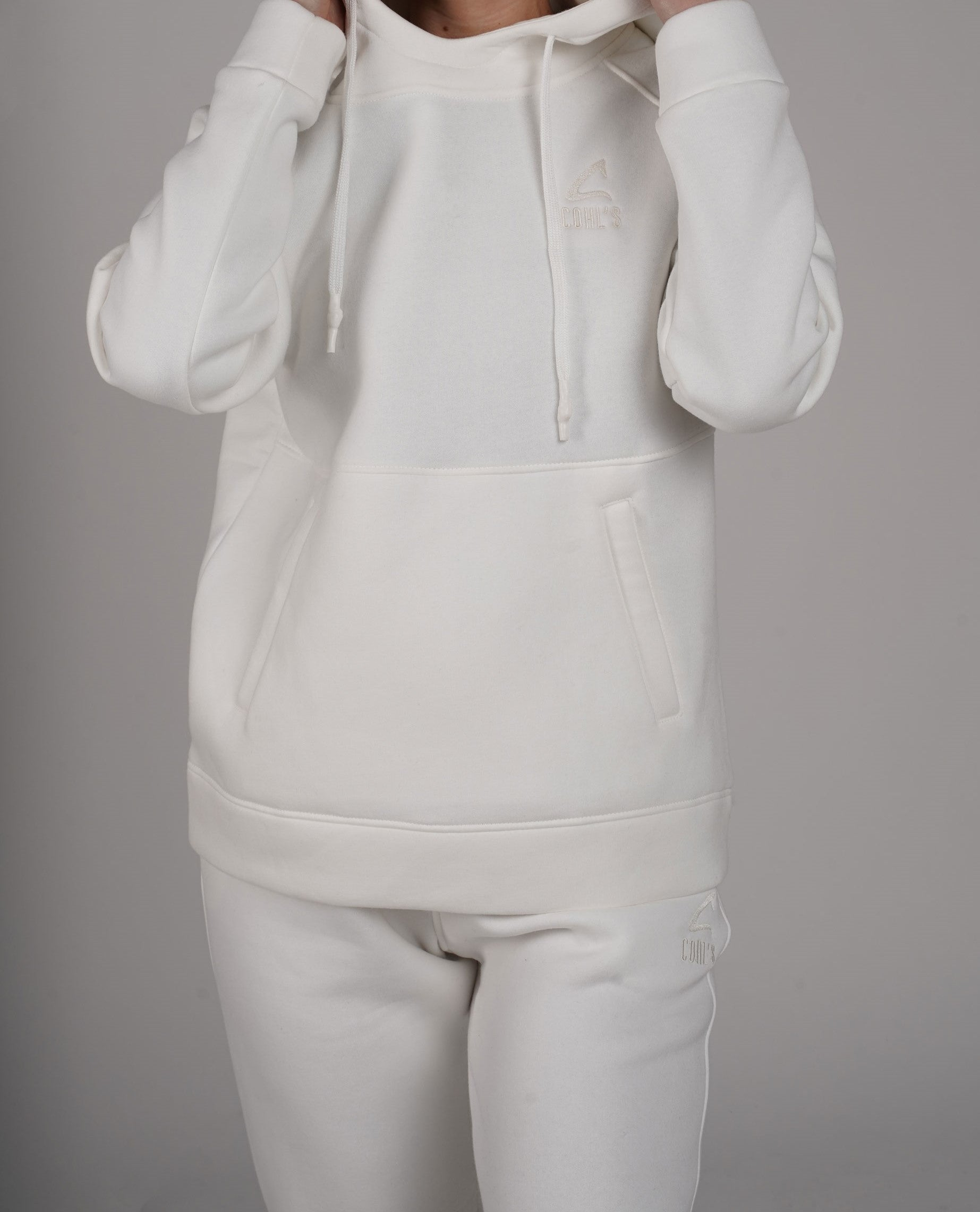 Milky Hoodie with Side Pockets - C162025