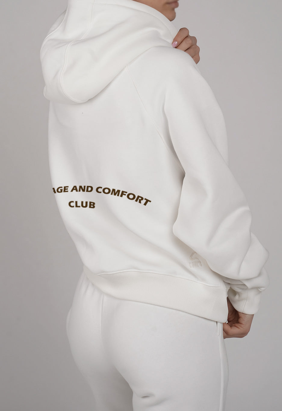Courage /Comfort White Hoodie - LH x COHL'S