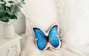 Velvet Butterfly Throw Pillow (PREORDER)