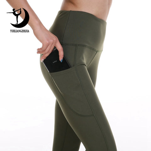 High Waist Leggings With Pocket