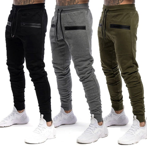 Zip pocket Sweatpants Casual Pants