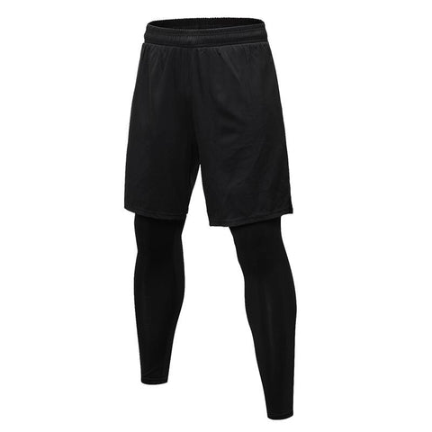 (2 Stück) Sweatpants Training Tights Running Shorts