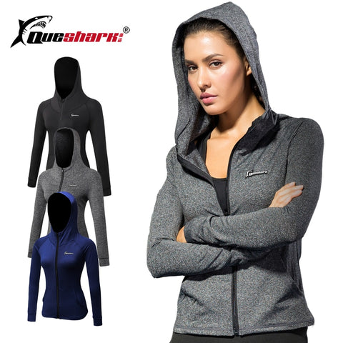 Queshark Frauen Fitness Yoga Zipper