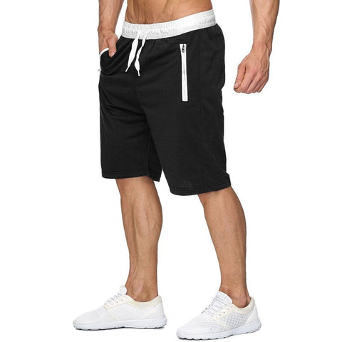 Zipper Shorts Sweatpants