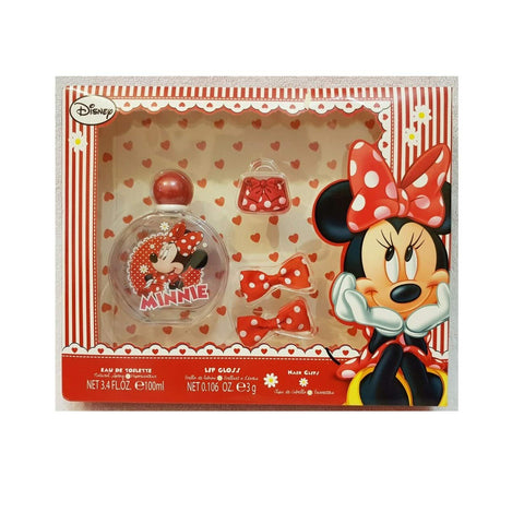 Disney Minnie Mouse Eau De Toilette 100Ml+Lipgloss+Hairclips - ABALB beauty
